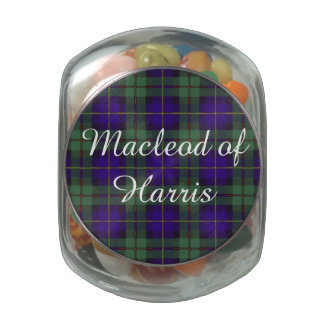 Macleod of Harris clan Plaid Scottish tartan Glass Jar