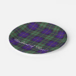 Macleod of Harris clan Plaid Scottish tartan Paper Plate