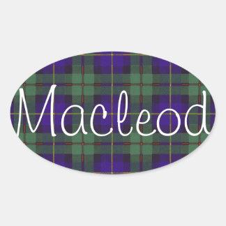 Macleod of Harris Scottish Tartan Oval Sticker