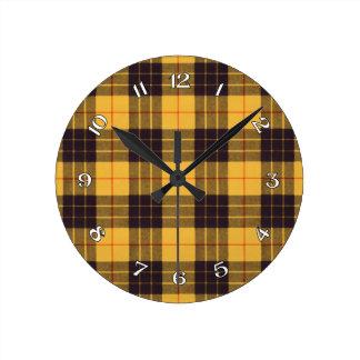 Macleod of Lewis & Ramsay Scottish Tartan Round Clock