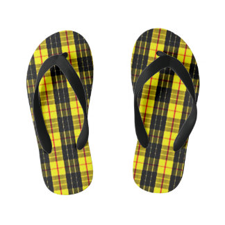 MacLeod Scottish Clan Tartan Kid's Flip Flops