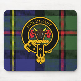 Macleod Scottish Crest and Tartan Mouse Pad