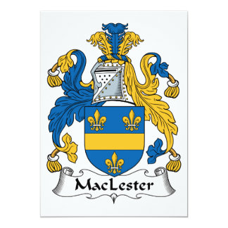 MacLester Family Crest Card