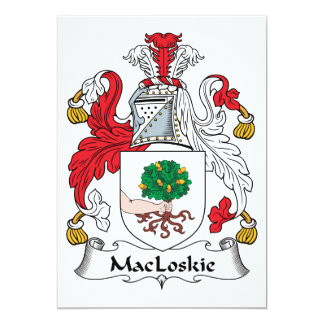 MacLoskie Family Crest Card