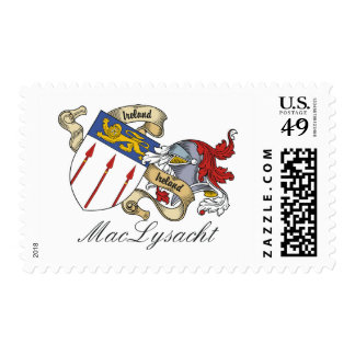 MacLysacht Family Crest Postage