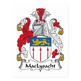 MacLysacht Family Crest Postcard
