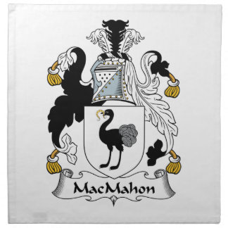 MacMahon Family Crest Napkin