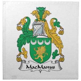 MacManus Family Crest Napkin