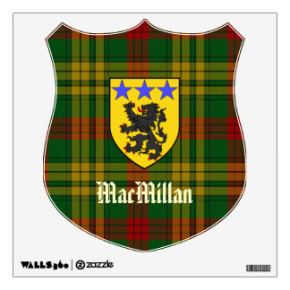 MacMillan COA and Tartan Wall Decal