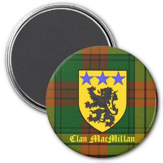 MacMillan Tartan Coat of Arms 3 Inch Round Magnet