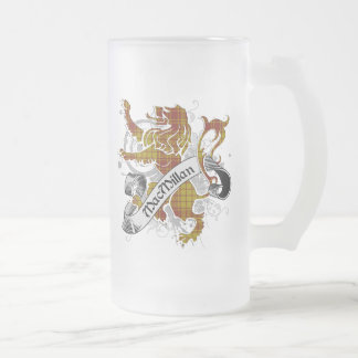 MacMillan Tartan Lion Frosted Glass Beer Mug