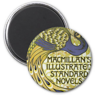 MacMillan's Peacock Edition 2 Inch Round Magnet