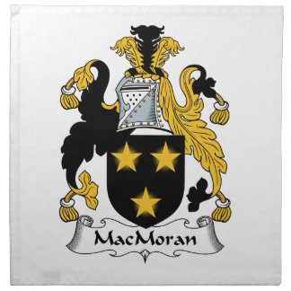 MacMoran Family Crest Cloth Napkin