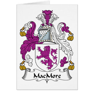 MacMore Family Crest Card