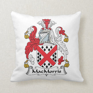 MacMorris Family Crest Throw Pillows