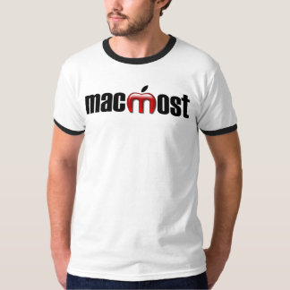 MacMost Black and Gray Ringer T-Shirt