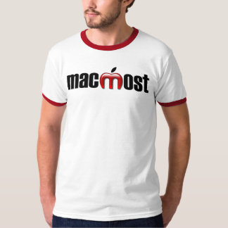 MacMost Red Ringer Tee Shirt