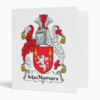 MacNamara Family Crest 3 Ring Binders