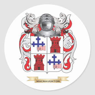 MacNaughton Coat of Arms (Family Crest) Round Stickers