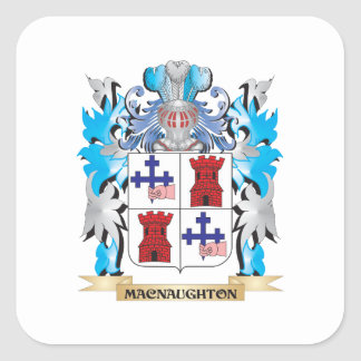 Macnaughton Coat of Arms - Family Crest Square Stickers