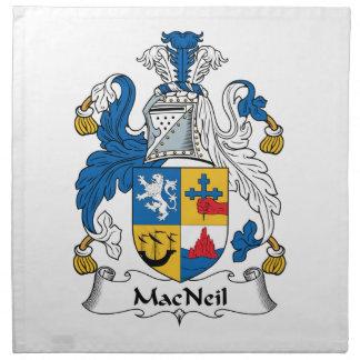 MacNeil Family Crest Cloth Napkin