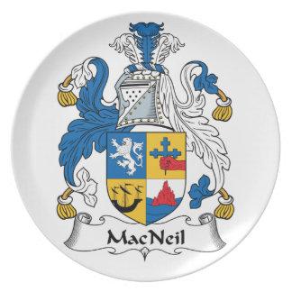 MacNeil Family Crest Dinner Plate