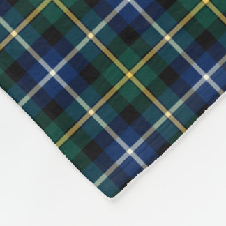 MacNeil of Barra Blue and Green Clan Tartan Fleece Blanket
