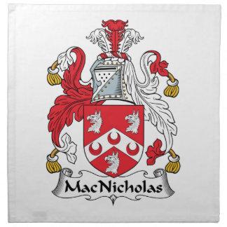 MacNicholas Family Crest Cloth Napkins