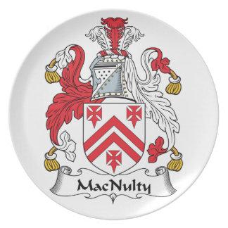 MacNulty Family Crest Dinner Plates