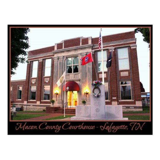 Macon County Courthouse - Lafayette, TN Postcard
