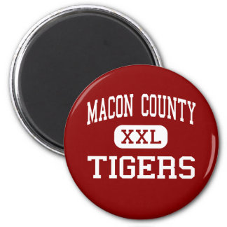 Macon County - Tigers - High - Lafayette Tennessee Refrigerator Magnet
