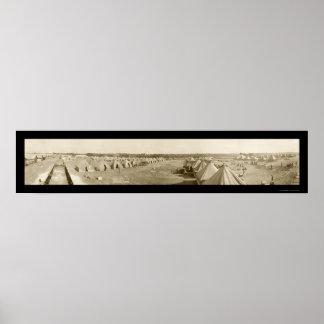 Macon, foto 1917 del policía motorizado del campo  póster