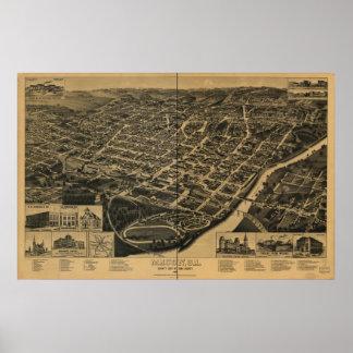 Macon Georgia 1887 Panoramic Map Poster