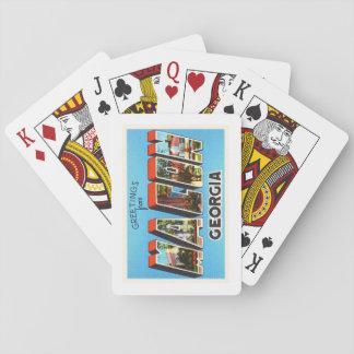 Macon Georgia GA Old Vintage Travel Souvenir Playing Cards