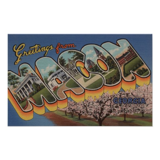 Macon, GeorgiaLarge Letter ScenesMacon, GA Poster