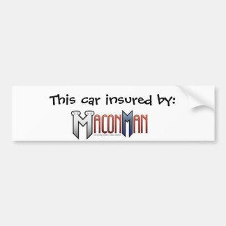 Macon Man Bumper Sticker