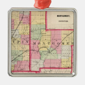 Macoupin, Montgomery counties Christmas Ornament
