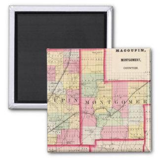 Macoupin, Montgomery counties Fridge Magnets