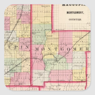 Macoupin, Montgomery counties Square Sticker