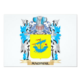 Macphail Coat of Arms - Family Crest Card