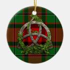 MacPhail Tartan And Celtic Trinity Knot Ceramic Ornament
