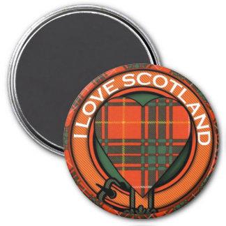 MacPhedran clan Plaid Scottish kilt tartan 3 Inch Round Magnet