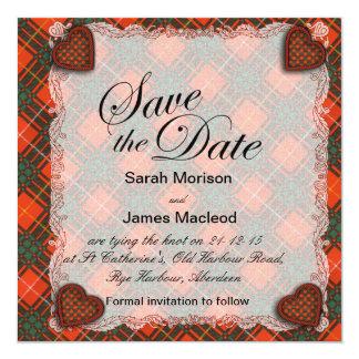 MacPhedran clan Plaid Scottish kilt tartan Card