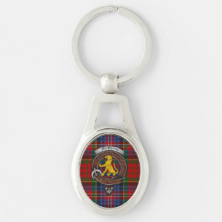 MacPherson Clan Badge Silver Metal Key Ring