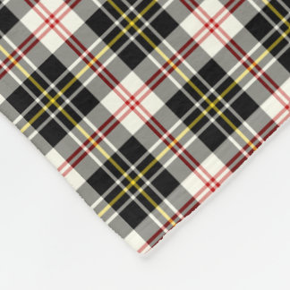 MacPherson Clan Black and White Dress Tartan Fleece Blanket