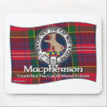 """Macpherson Clan Mouse Pad<br><div class=""""desc"""">Macpherson Clan Tartan, Crest Badge and Motto on a wide variety of products. The belt and buckle indicates the wearer is a member of the clan symbolized by the chief&#39;s crest and motto within the belt.&#160; The belt encircling the crest replaces the&#160;Gaelic phrase &quot;an cirean ceann cinneadh&quot; (crest of the...</div>"""