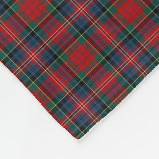 MacPherson Clan Red, Blue, and Green Tartan Fleece Blanket