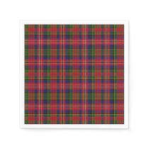 MacPherson Clan Tartan Plaid Paper Napkins