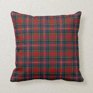 MacPherson Clan Tartan Red, Blue and Green Plaid Throw Pillow