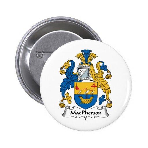MacPherson Family Crest 2 Inch Round Button